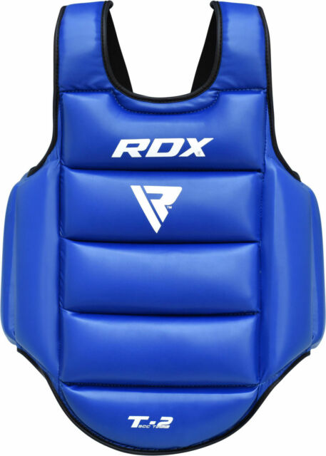 RDX MMA Boxing Chest Guard Protector Body Armour Training Kickboxing Sports R//B