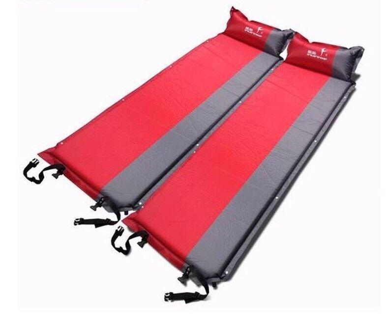 Vattensäkra mattor för camping, uppblåsbara veck, Bärbara högvärdiga hiking Pads Nya
