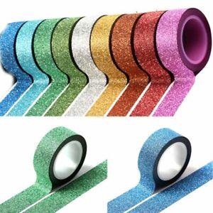 5M-Glitter-Ribbon-Adhesive-Tape-Stick-Handwork-Masking-Gift-DIY-Craft-Decoration