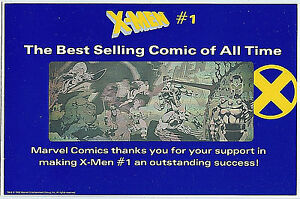EXCELLENT ! X-Men #1 The Best Selling Comic of All Time 1992 PROMO HOLOGRAM!