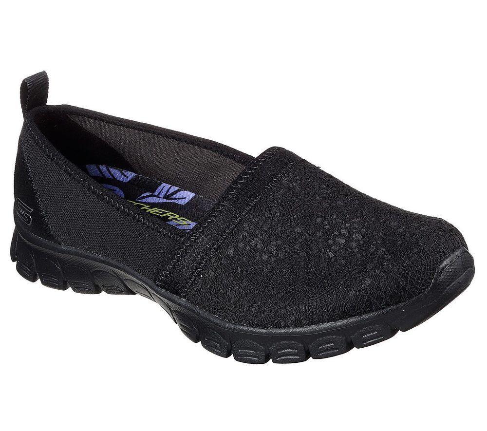 NEU SKECHERS Damen Sneakers Sportschuh EZ FLEX 3.0 - QUICK ESCAPADE Schwarz