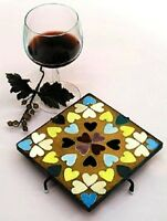 6 Black Metal Square Trivet For Mosaic Art Display - Sold Ready To Finish