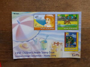 NEW-ZEALAND-HEALTH-STAMPS-1997-CHILDRENS-HEALTH-3-STAMP-MINI-SHEET-MNH