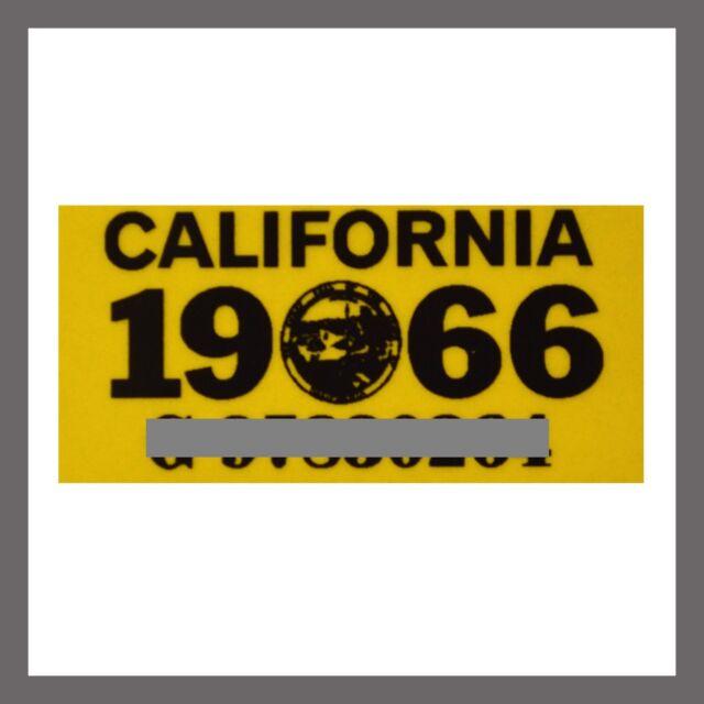 Tag YOM CA DMV 1961 California License Plate Registration Sticker