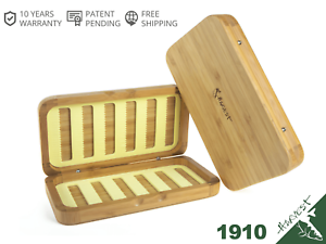 Wooden-Fly-Fishing-Box-Bamboo-with-Hidden-Magnetic-Slit-Foam-Insert-Double-Side
