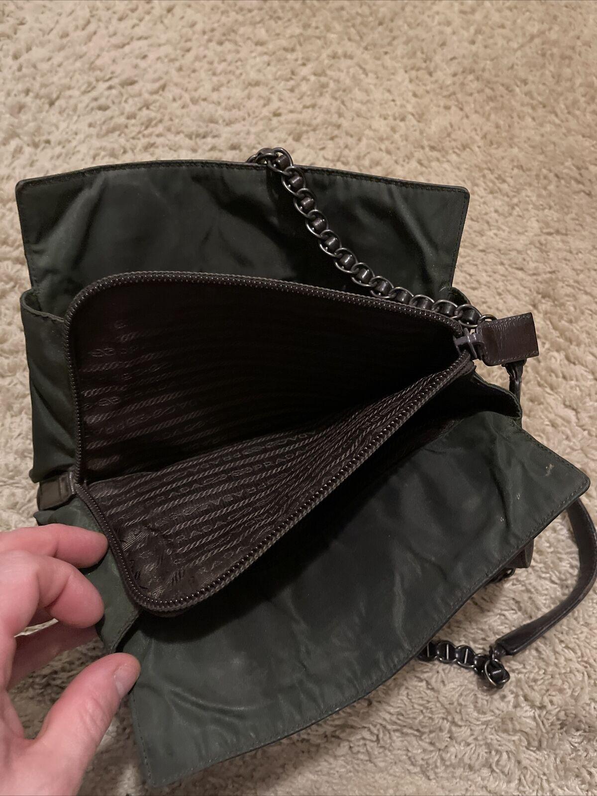 VIntage Prada Medium Leather Bag Brown Shoulder B… - image 4