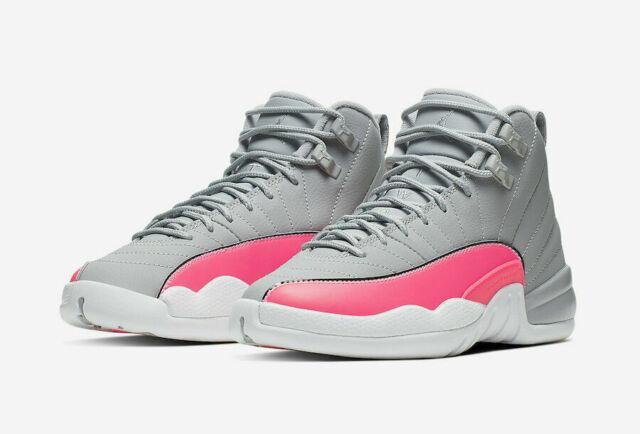 Nike Air Jordan 12 XII Retro GS Wolf Grey Racer Pink Size 4 Y ...