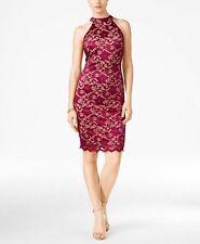 $210 Emerald Sundae Juniors Blue V-Neckline Glitter Lace Bodycon Dress Size Xxs