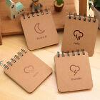 Hard Back Spiral Bound Coil Pocket Sketch Book Blank Paper Kraft Sketch Papers