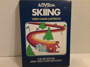 Skiing (Atari 2600, 1980)*AUTHENTIC*CARTRIDGE*BOX*MANUAL*
