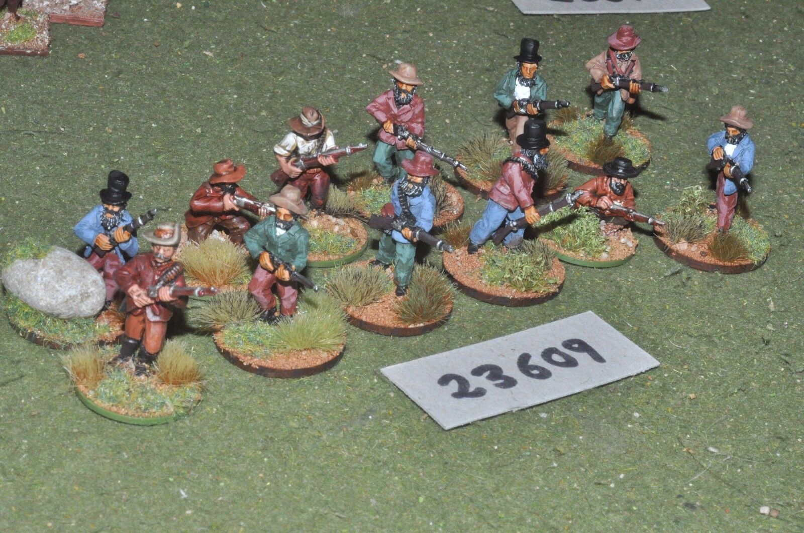 25mm Colonial South African-Boer los tiradores 12 figuras-INF (23609)