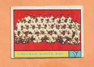 Chicago Blanc Sox Équipe Carte Topps 1961 Carte #7 G0vzf60h-07233720-584851780
