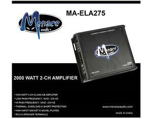 Menace Audio® 2000W 2 Channel Amplifier