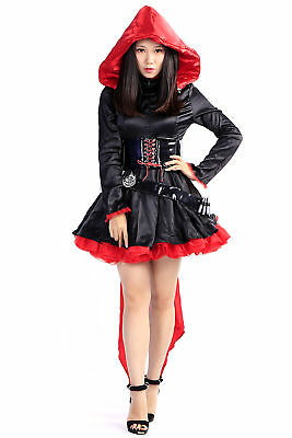 Rwby Cosplay Costume The Leader Red Ruby Rose Hoodie Outfit Set V1