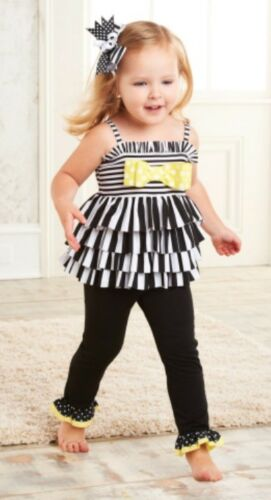 Mud Pie Striped Tunic and Legging Set