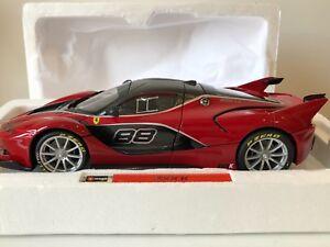 Burago 1/18 - Ferrari Fxx-k Rouge Noir (gamme Signature Series) Neuve