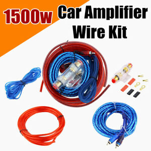 Details about 1500W 8 Gauge Car Audio Kit Cable Amp Amplifier Install on