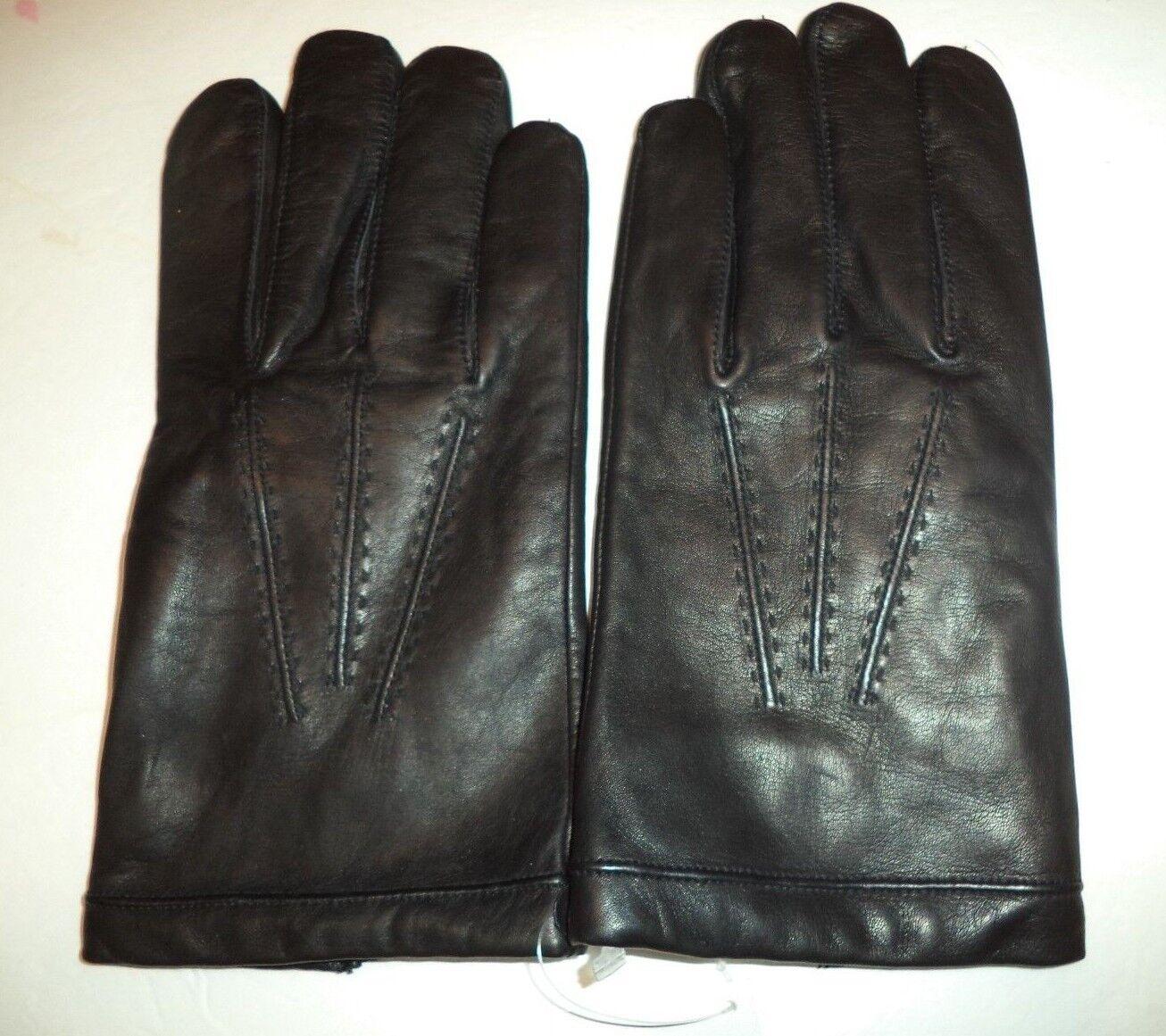 Men's Grandoe Genuine Leather Gloves,Black, Large Style 776