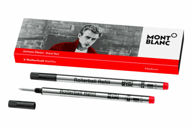 Montblanc Great Characters James Dean Rebel Red Rollerball Refill NEW in Box