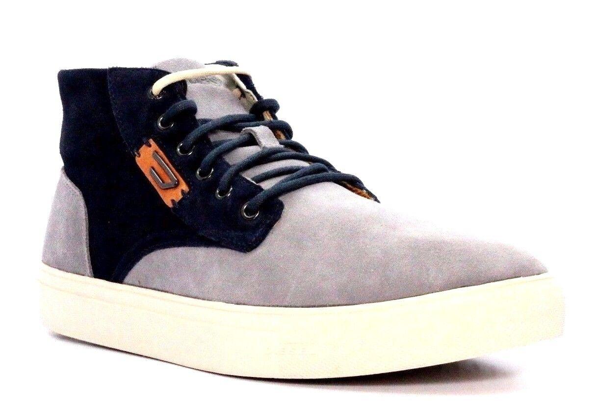 DIESEL Y01254 PR047 H5888 E-LAARCKEN MID Mn's (M) Frost Grey Suede Mid-Top shoes