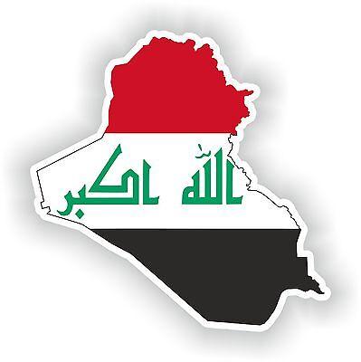 4x IRAQ IRAK flag decals sticker bike scooter car vinyl luggage helmet