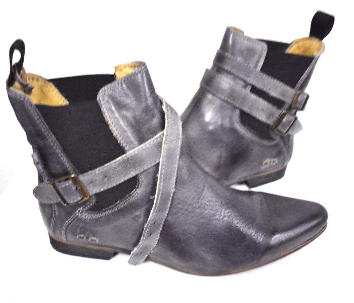 Nuevo Cama Cama Cama STU Para mujeres Cuero Hebilla De Tobillo barranco gris Botines botas de detalle 9  almacén al por mayor