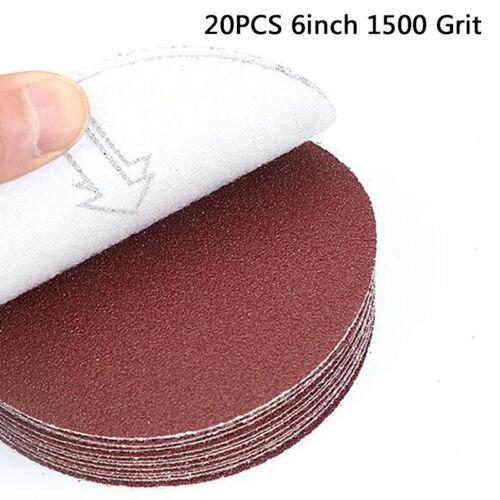 20pcs//Set Sanding Discs 6inch 40~5000Grit Sandpapers For Sander Tool Durable