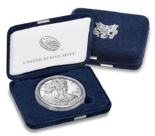 New 2018-W Proof American Silver Eagle Coin with box and COA In Stock