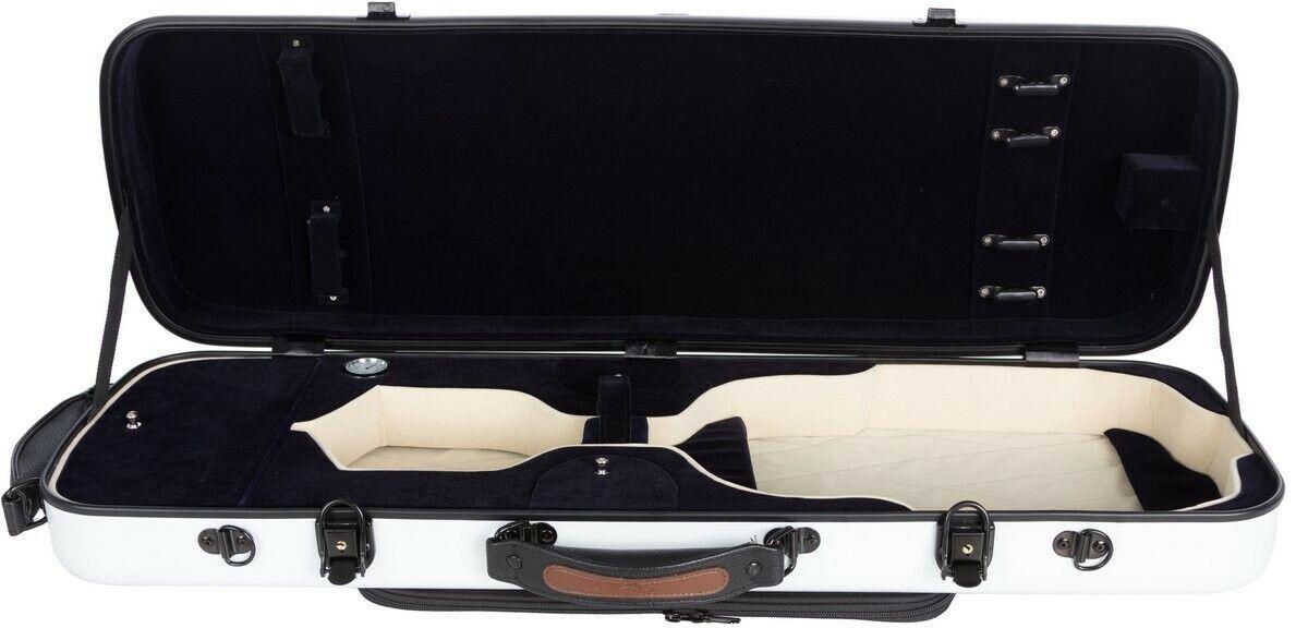 FR Étui pour violon en fibre de verre Fiber Oblong 4 4 M-case Weiß Blau Marine