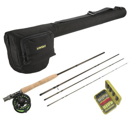 Lixada Lightweight Fishing Rod Reel Combo Set 4-Piece Fly Fishing Rod Set T6I3
