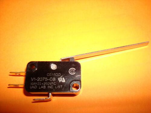125 or 250VAC 1NO//1NC CEMCO V1-2075 Precision Micro Limit Switch 10AMP NEW