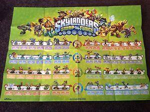 Skylanders SWAP Force starter poster shows all 56 figures ...