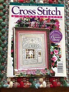 VTG-Cross-Stitch-amp-Crafts-Jan-Feb-1996-Love-Heart-Flower-Shop-Patricia-Andrle