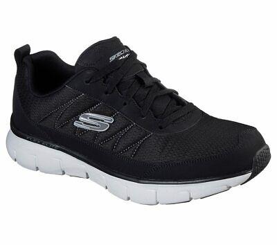 Skechers Black shoe Men Memory Foam Soft Mesh Train Sport