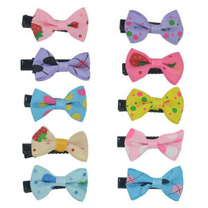 10PCS-Girls-Bows-Snaps-Alligator-Clips-Hair-Clip-Baby-Kids-Hair-Accessories-Gift