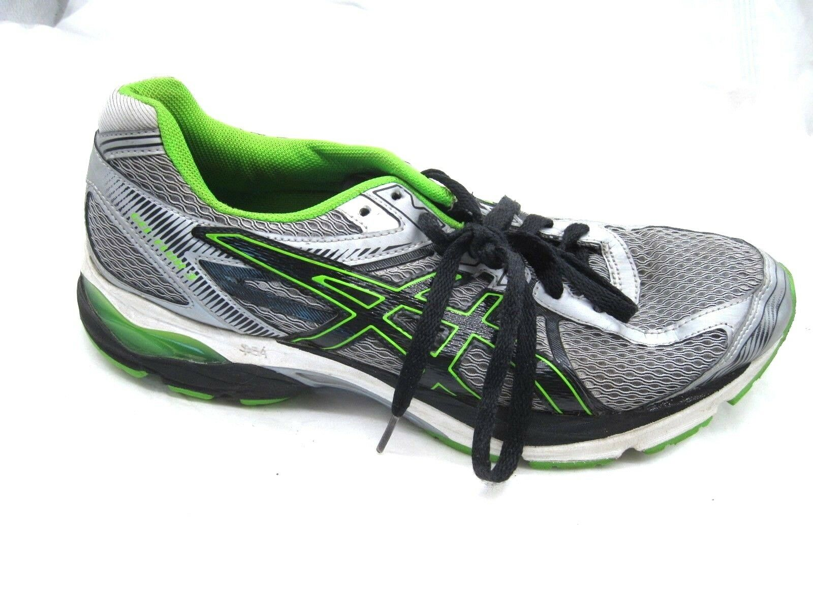 Asics Gel-Flux 3 silver black running mens tennis athletic shoes sz 10M T614N