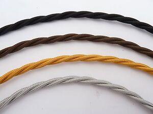 Vintage elektrisch Kabel/Flex / Draht gewebt / verdreht Stoff ...