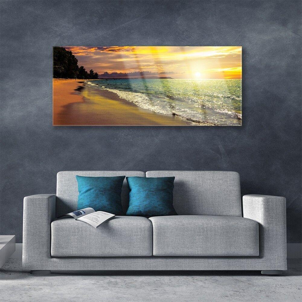 Kaifu Kaifu Kaifu accueille à la maison avec Fu Tableau mural Image sur Plexiglas® 125x50 Paysage Soleil Plage Mer b09ac5