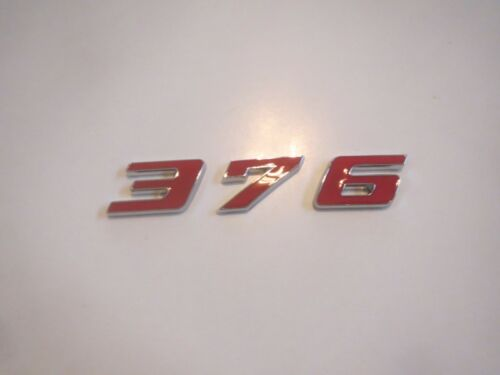 FORD GM MOPAR 376 ENGINE ID FENDER HOOD SCOOP QUARTER PANEL TRUNK EMBLEM RED