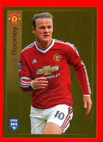 FIFA 365 2015-16 PANINI 2016 -Figurina Stiker- n. 329 - ROONEY - MANCHESTER -New