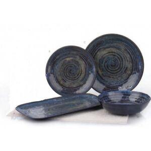 Image is loading MERRITT-GLAZED-SWIRL-BLUE-11-034-ROUND-MELAMINE-  sc 1 st  eBay & MERRITT GLAZED SWIRL BLUE 11\