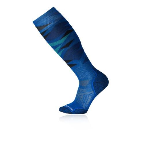 SmartWool Mens Smartwool PhD Ski Light Pattern Snow Socks Blue Sports Outdoors