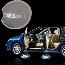 Audi S-Line Sline 12V Car Logo Cree LED Ghost Shadow Door Light Laser Kit Pair