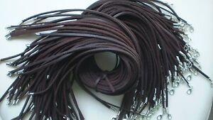 Wholesale lot bulk 10 pcs Fashion leather necklace cord dark coffee 50cm New