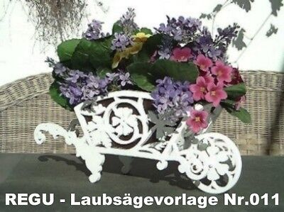 Regu - Laubsägevorlagen Nr.011 Für Blumenschubkarre Supplement Die Vitalenergie Und NäHren Yin