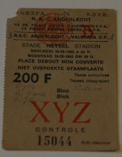 old TICKET EC Anderlecht Brussel Belgium Valencia CF Spain