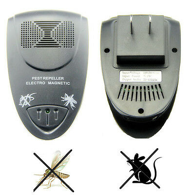 Mini Ultrasonic Pest Cockroach Mouse Bug Insect Mosquito Repeller Control Killer
