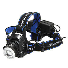 2000Lm CREE XML T6 LED Zoom Zoomable Adjustable 18650 HeadLamp Headlight 3 Modes