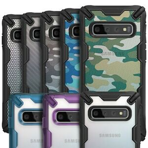 sports shoes 6496b 51d9c Details about Samsung Galaxy S10 Plus Case, Ringke NEW [Fusion-X] Clear  Bumper Drop Protection
