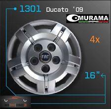 4 Original MURAMA 1301 Radkappen für 16 Zoll Felgen FIAT DUCATO '09 BLAU LOGO